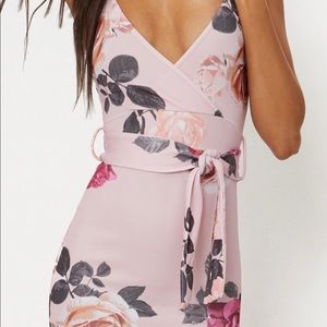 Pretty Little Thing Pink Floral Midi US 8 NWT